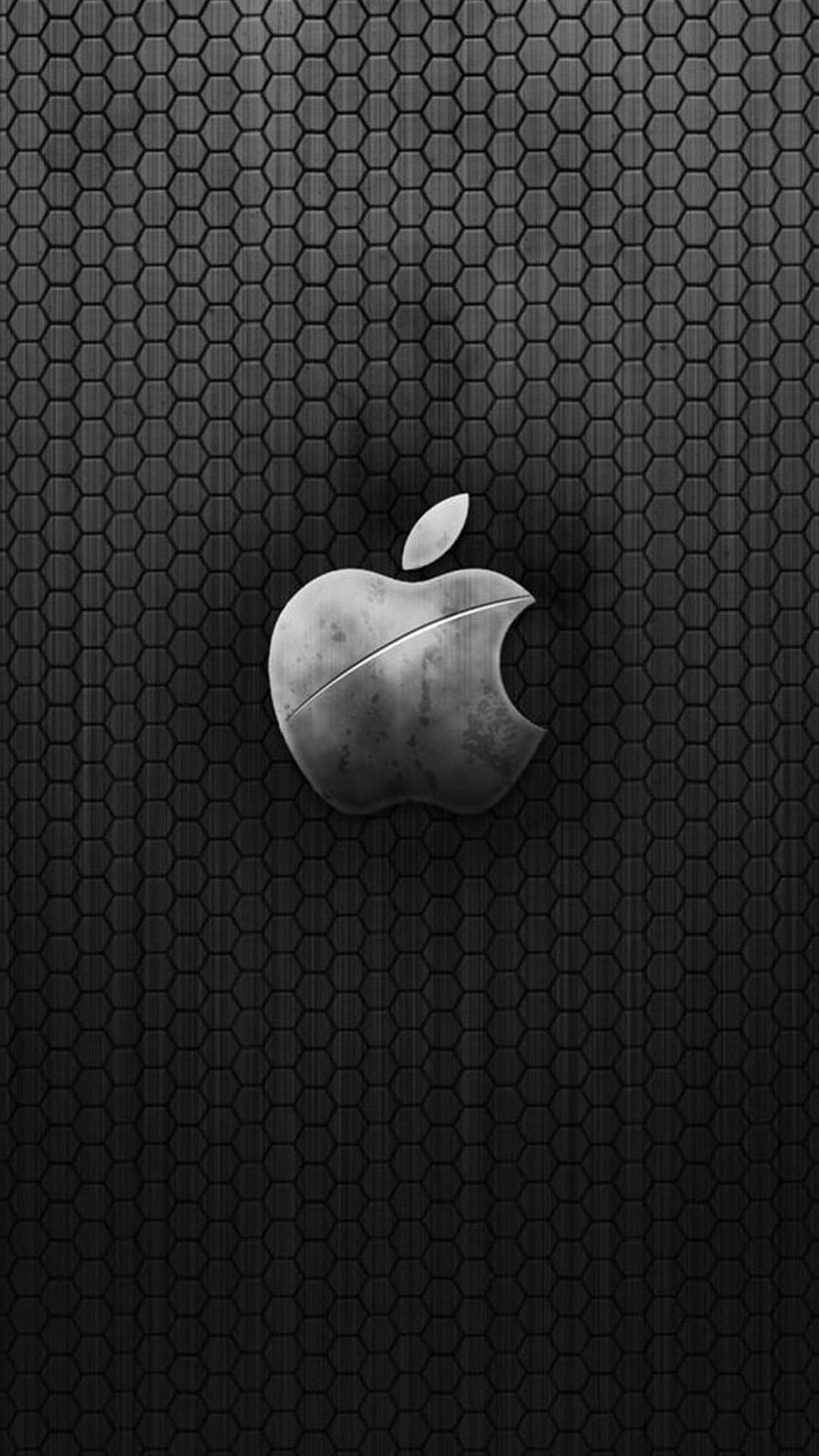 メタリックなappleロゴの壁紙 Iphone Wallpapers